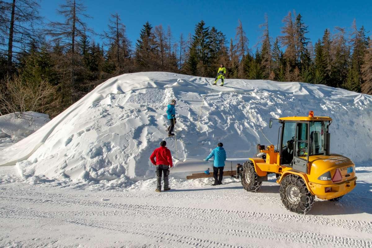 Schneedepot snowfarming Lenzerheide