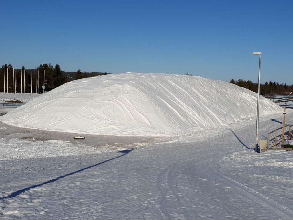 Schneedepot snowfarming Rowaniemi